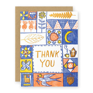 THANK YOU QUILT card