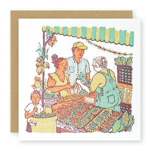 """Farmer's Market"" card"