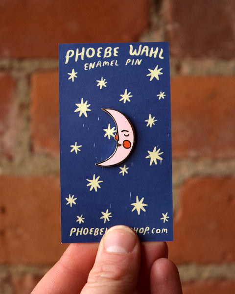 PINK MOON enamel pin