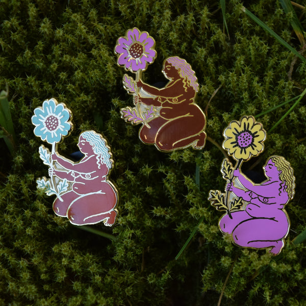 Flower Maiden enamel pin