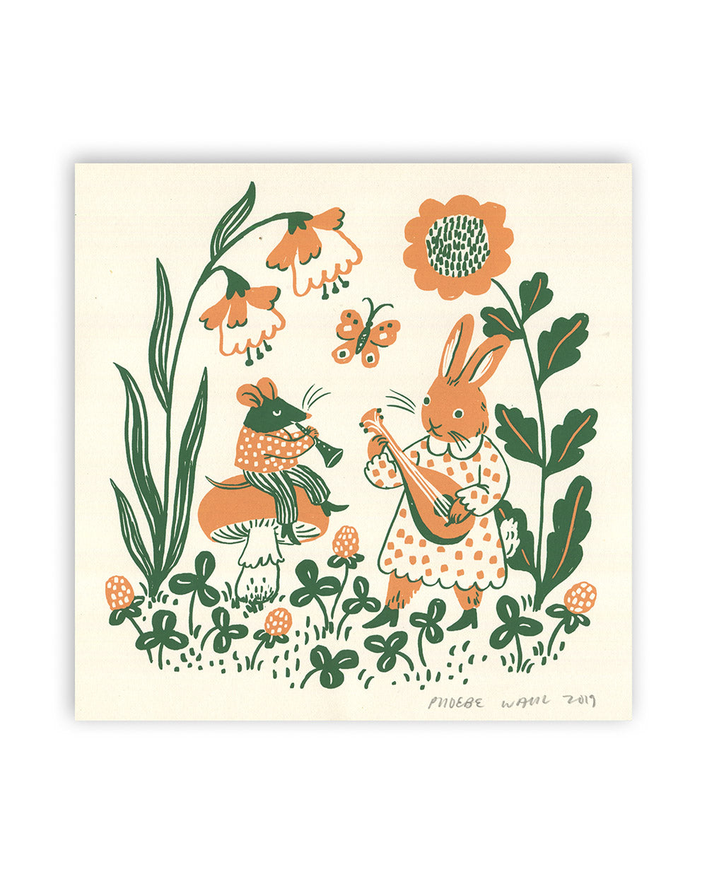 """Mouse And Bunny"" Screenprint"