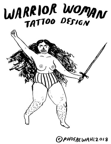Warrior Woman TATTOO DESIGN