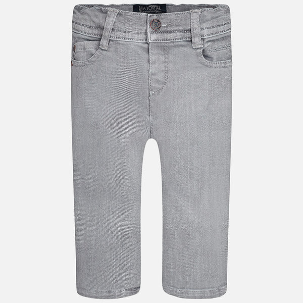 Mayoral Baby boy Grey twill denim long trousers 2567 - Bumkins Designer Kids (9874308561)