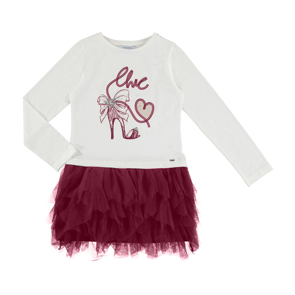 Mayoral Girl AW19 Ruby Tulle Dress 7926 (3878533070946)
