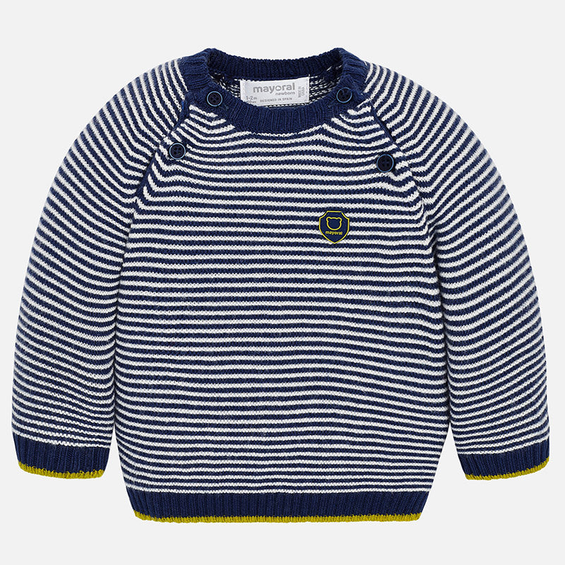 Mayoral Newborn Baby Boy blue Stripe Jumper 2306 (1674771529826)