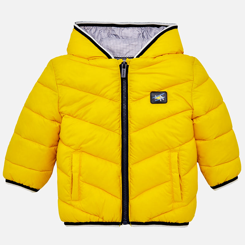 d5ae121600a Mayoral Baby Boy Yellow Feather effect coat 2479 – Bumkins Designer Kids