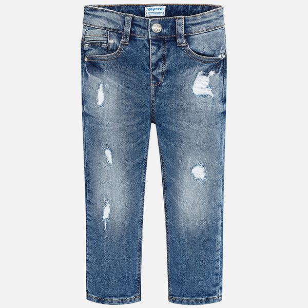 Mayoral Boy Ripped denim trousers Loose fit 4520