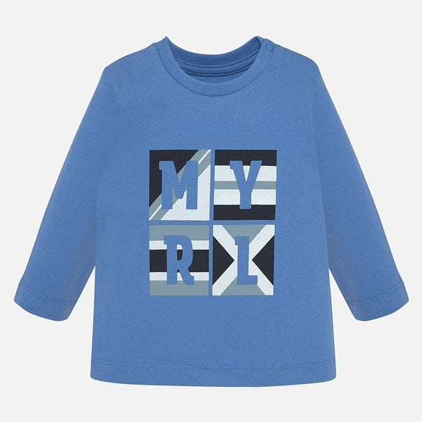 Mayoral Baby Boy AW19 Blue Long Sleeved T-shirt 108 (4308761051234)