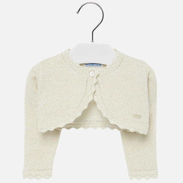 Mayoral Baby Girl AW19 Metallic Sand cardigan 308 (4168537014370)