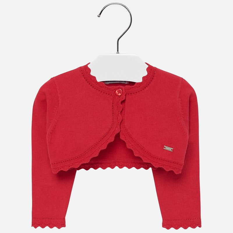 Mayoral Baby Girl AW19 Red cardigan 308 (4168541143138)