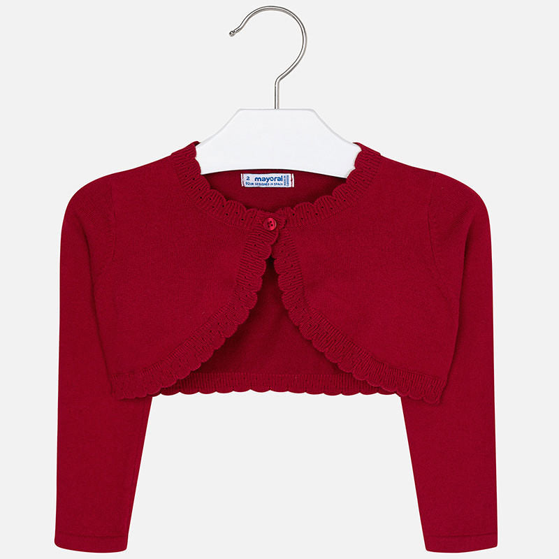 Mayoral Girl AW19 Red Cardigan 314 (3874624569442)