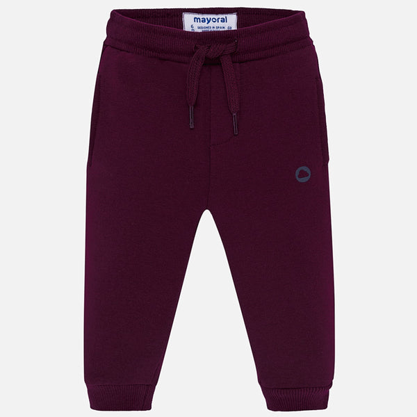 Mayoral Baby Boy AW19 Burgundy Jogging Bottoms 704 (4319547457634)