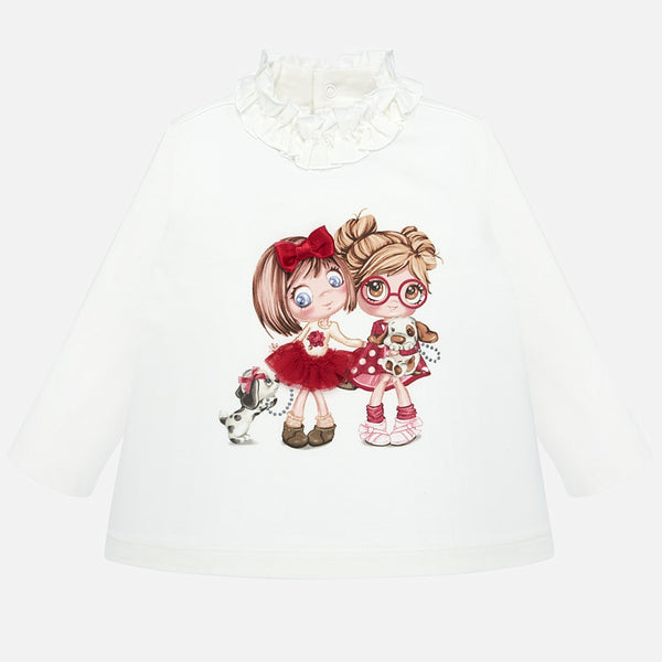 Mayoral Baby Girl AW19 Long sleeved mock neck t-shirt 2006 (4168539963490)