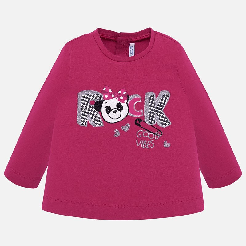 Mayoral Baby Girl AW19 Long Sleeved Rock T-shirt 2016 (3951977332834)
