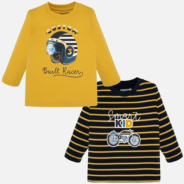 Mayoral Baby Boy AW19 Long sleeved rally t-shirt set 2018 (4319555092578)