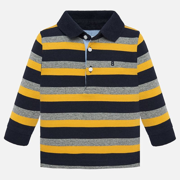 Mayoral Baby Boy AW19 Long sleeved striped polo shirt 2105