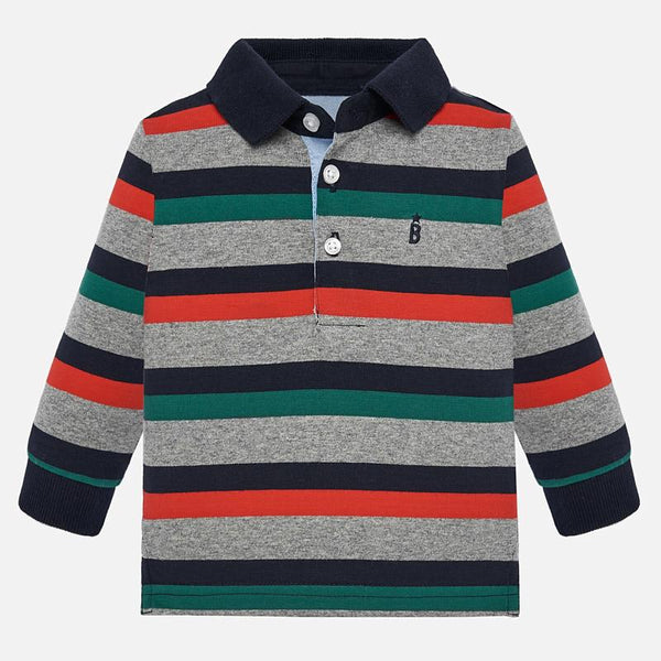 Mayoral Baby Boy AW19 Long sleeved striped polo 2105 (4339993051234)