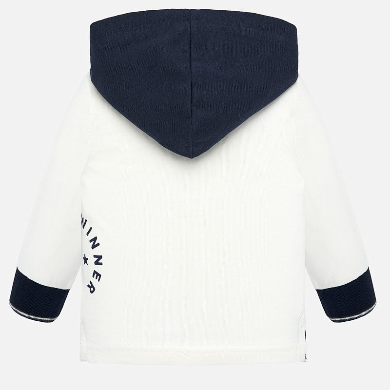 Mayoral Baby Boy AW19 Cream Long sleeved hoody 2107 (4319545753698)