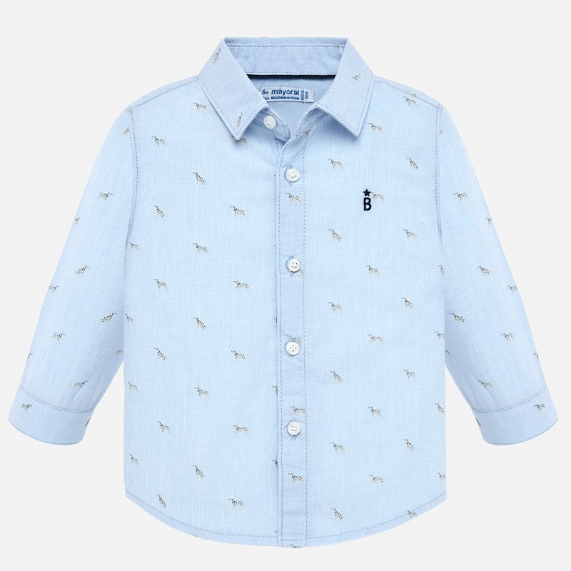 Mayoral Baby Boy AW19 Long sleeved patterned shirt 2115 (4339996524642)