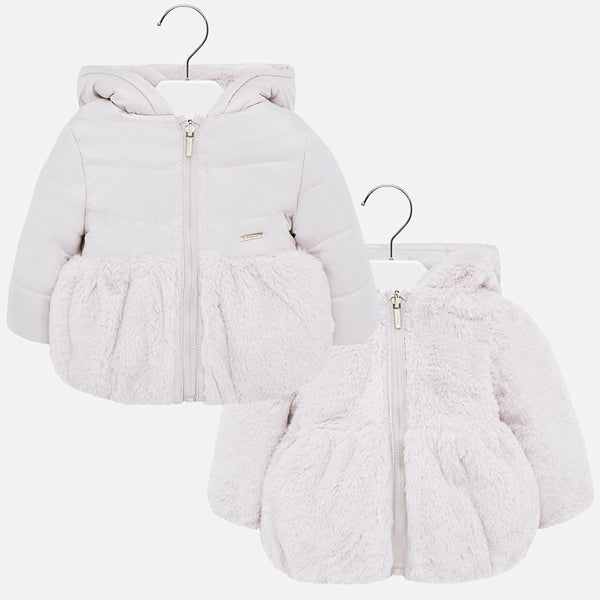 Mayoral Baby Girl AW19 Reversible coat with faux 2433