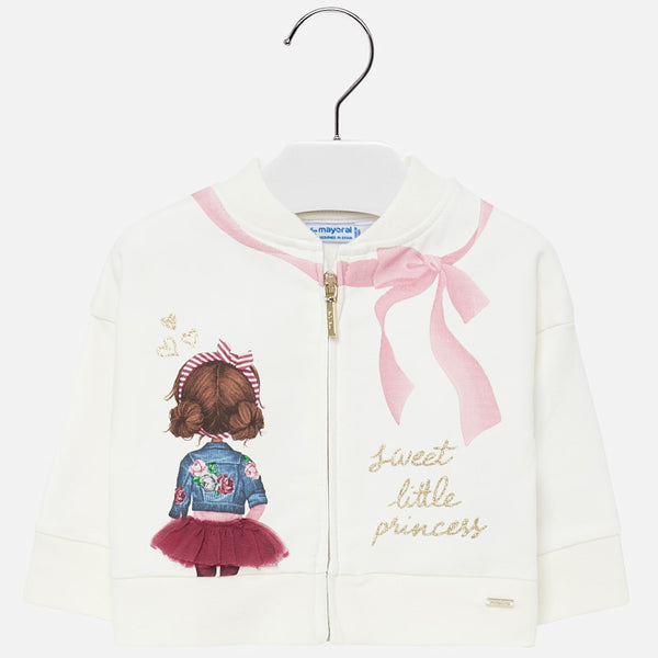 Mayoral Baby Girl AW19 Fleece Jacket With doll print 2438 (4168524038242)