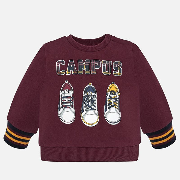 Mayoral Baby Boy AW19 Trainers Sweatshirt Burgundy 2440