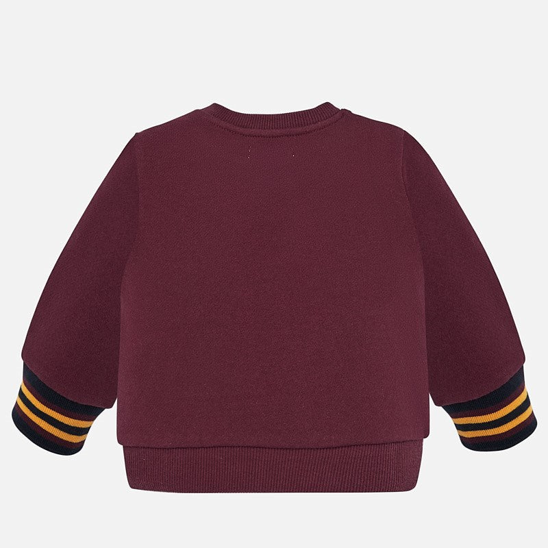 Mayoral Baby Boy AW19 Trainers Sweatshirt Burgundy 2440 (4319550242914)