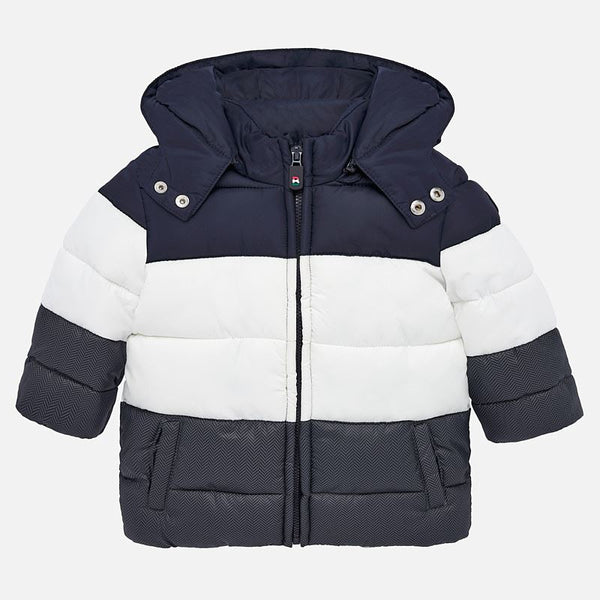 Mayoral Baby Boy AW19 Colour block coat Padded Coat 2451 (4340002553954)