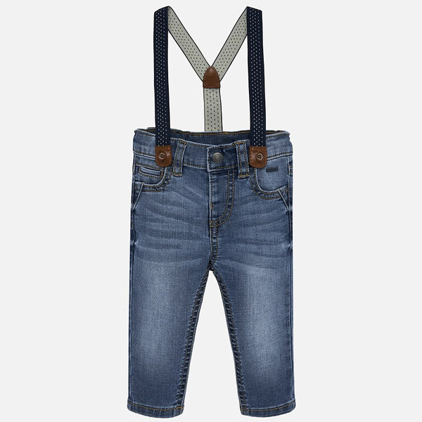 Mayoral Baby Boy AW19 Tapered fit jeans with braces 2544 (4319614140514)