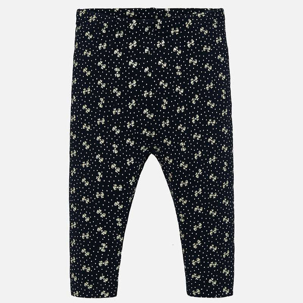 Mayoral Baby Girl AW19 Navy Bow Leggings 2739