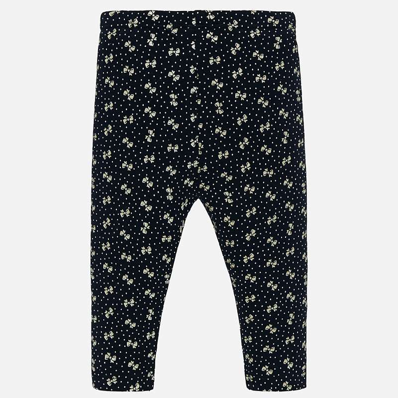 Mayoral Baby Girl AW19 Navy Bow Leggings 2739 (4168529248354)