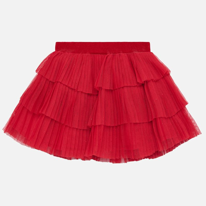 Mayoral Baby Girl AW19 Red Tulle skirt 2901 (4168540651618)