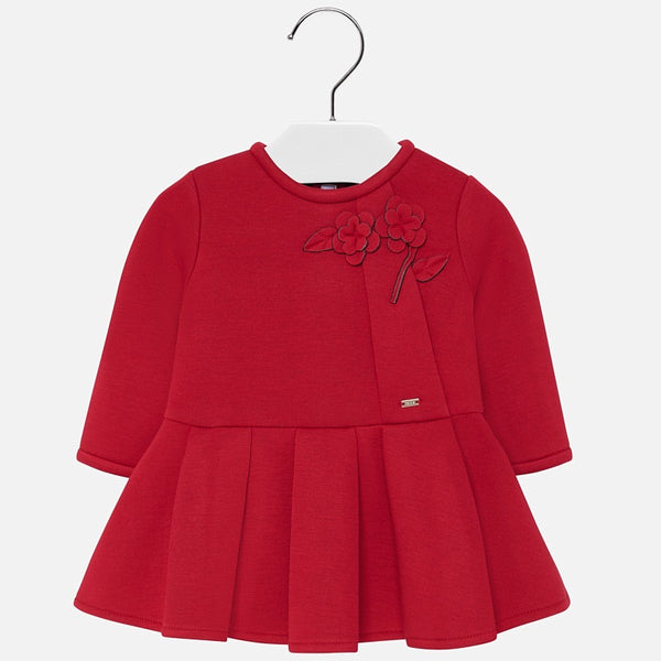 Mayoral Baby Girl AW19 Red Flowers Dress 2929 (4168538914914)