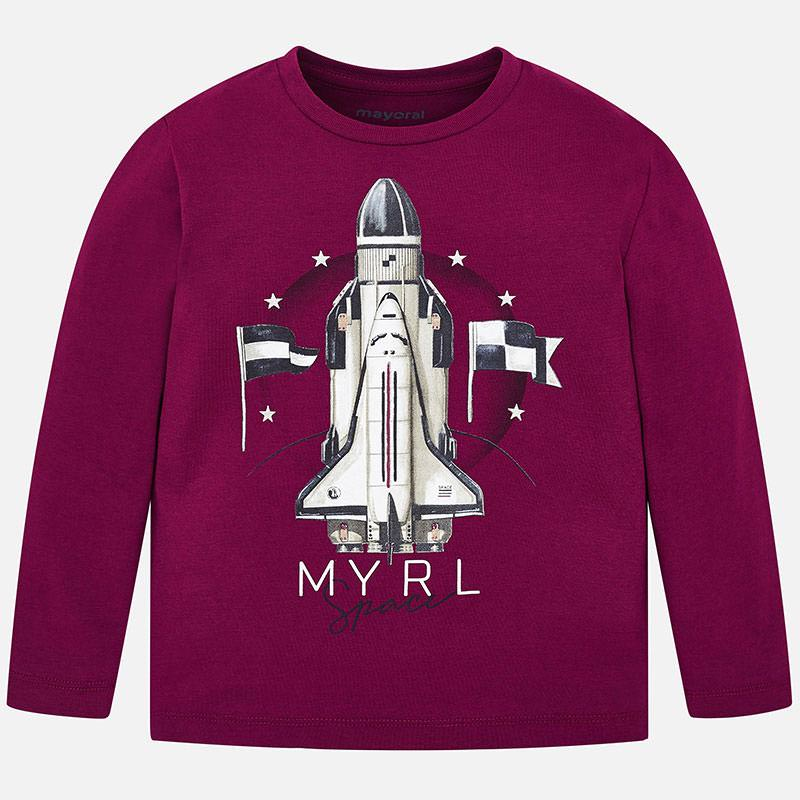Mayoral Boy AW19 Long sleeved rocket t-shirt Purple 4029 (3968033521762)