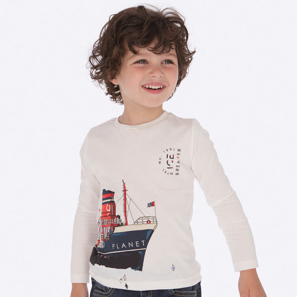 Mayoral Boy AW19 Long sleeved boats t-shirt 4036 (3968034537570)