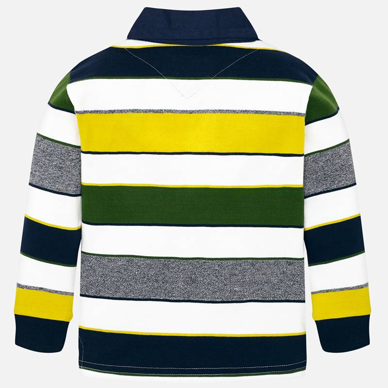 Mayoral Boy AW19 Long sleeved striped polo shirt 4114 (3968028835938)