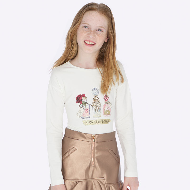 Mayoral Girl AW19 Roses Perfume Top 7013 (3878571049058)