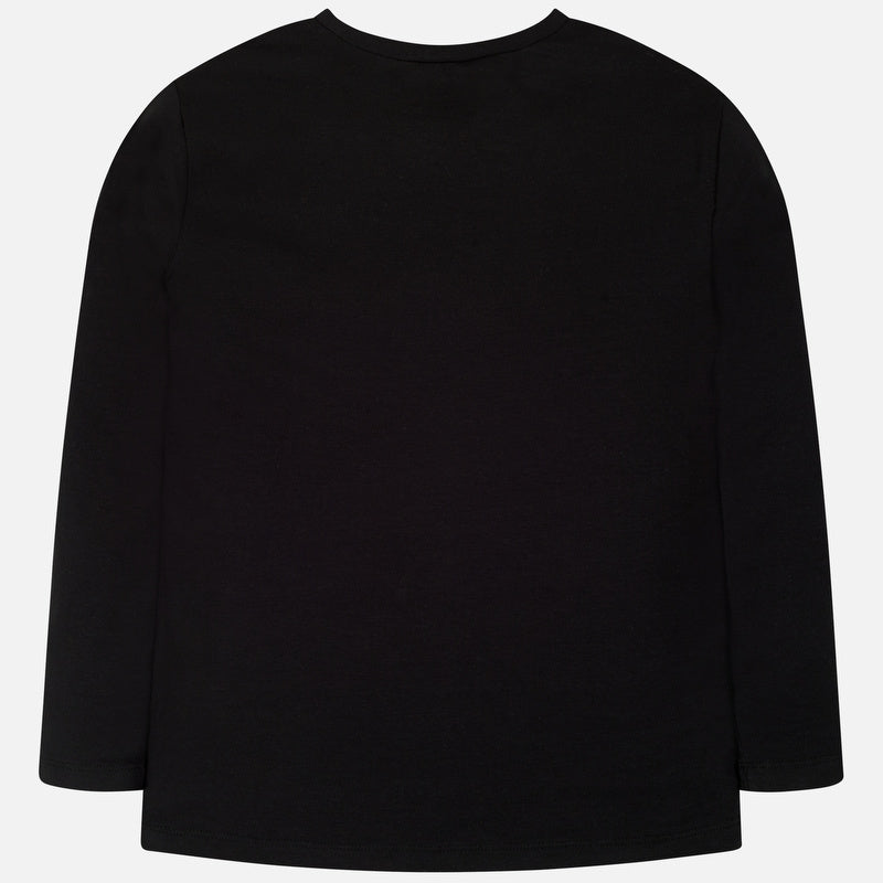 Mayoral Girl AW19 Long Black Sleeved Top 7019 (3878482903138)