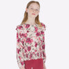 Mayoral Girl AW19 Roses Ruffled Blouse 7105 (3878550831202)