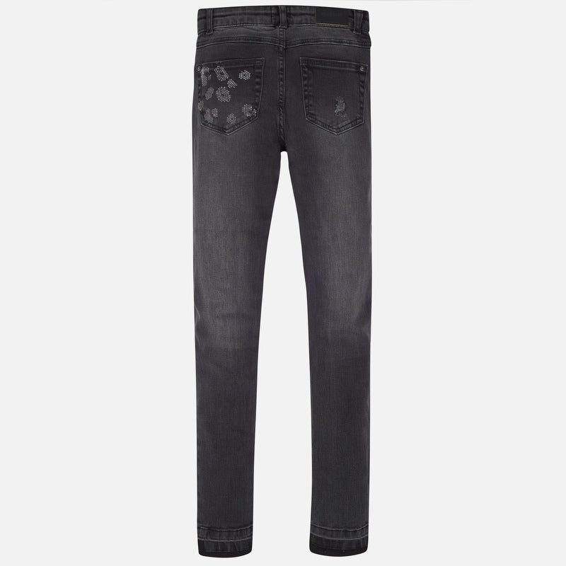 Mayoral Girl AW19 Light Denim Trousers 7503 (3878585761890)