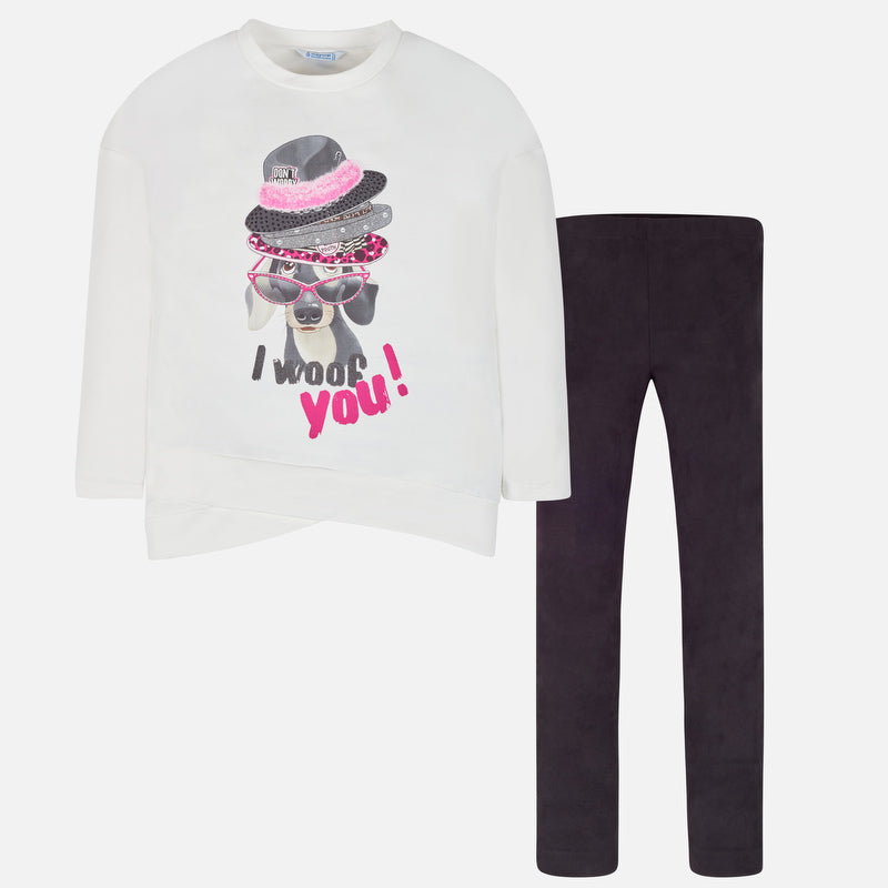Mayoral Girl AW19 Woof Legging Set 7708 (3878524158050)