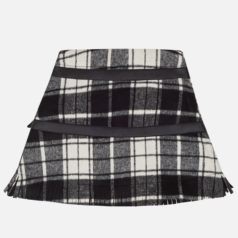 Mayoral Girl AW19 Black checked Skirt 7912 (3878470189154)