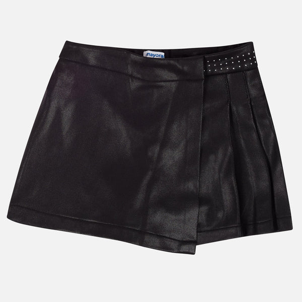 Mayoral Girl AW19 Black Plush Skirt 7917 (3923571474530)