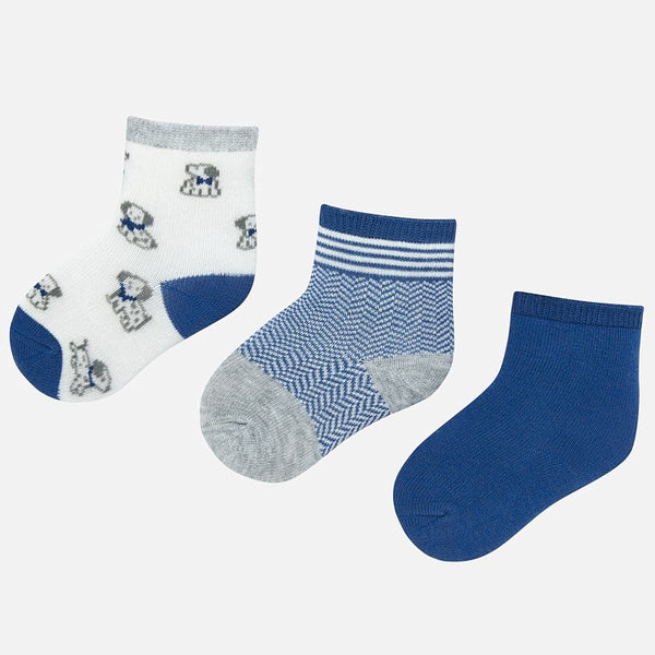 Mayoral Baby Boy AW19 set of 3 Patterned socks 9160 (3967089868898)