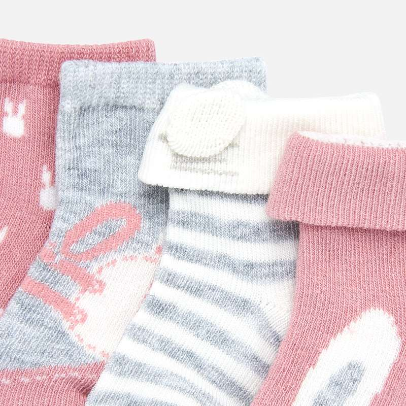 Mayoral Baby Girl AW19 set of 4 Patterned socks 9171 (3967090983010)
