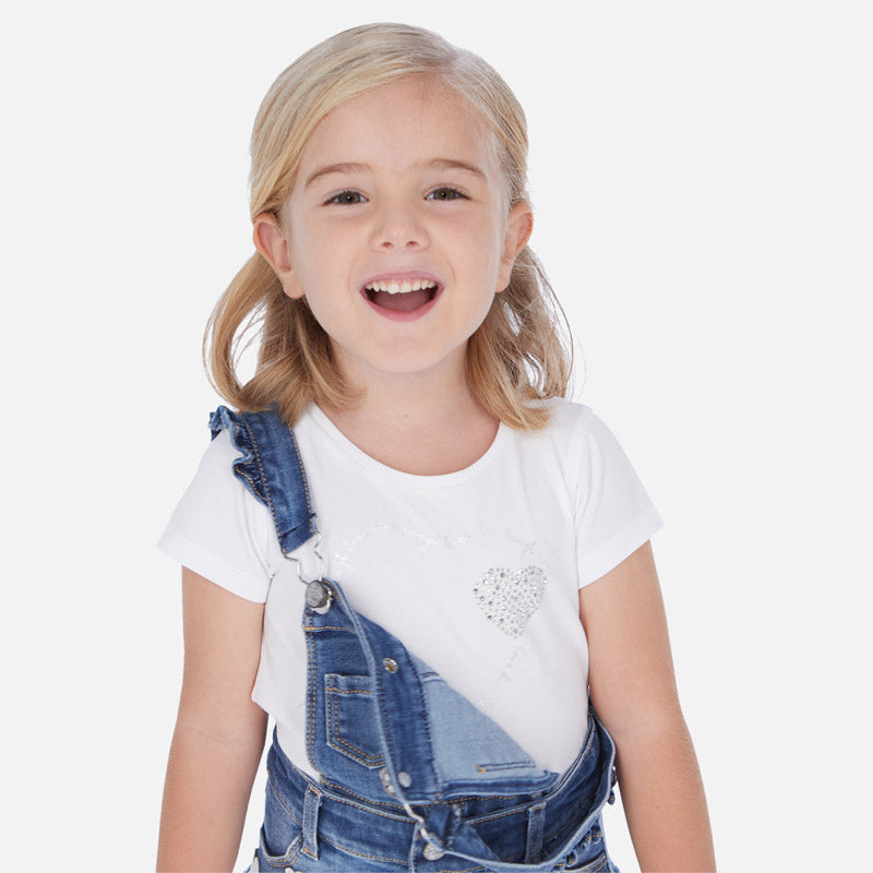 Mayoral Girl SS20 White Heart T-Shirt 174 (4353819213922)
