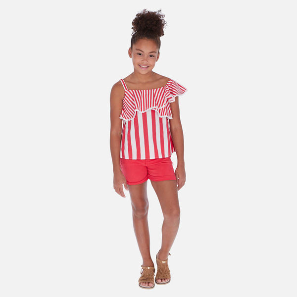 Mayoral Girl SS20 Shorts with belt Watermelon 275 (4370630606946)