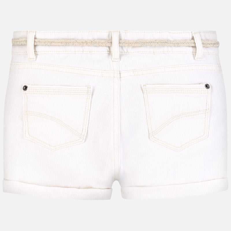 Mayoral Girl SS20 Shorts with belt Off White 275 (4370632835170)