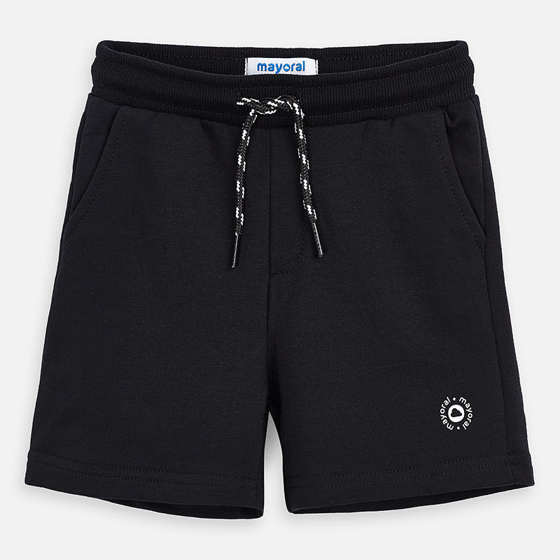 Mayoral Boy SS20 Fleece Shorts Black 611 (4368313876578)