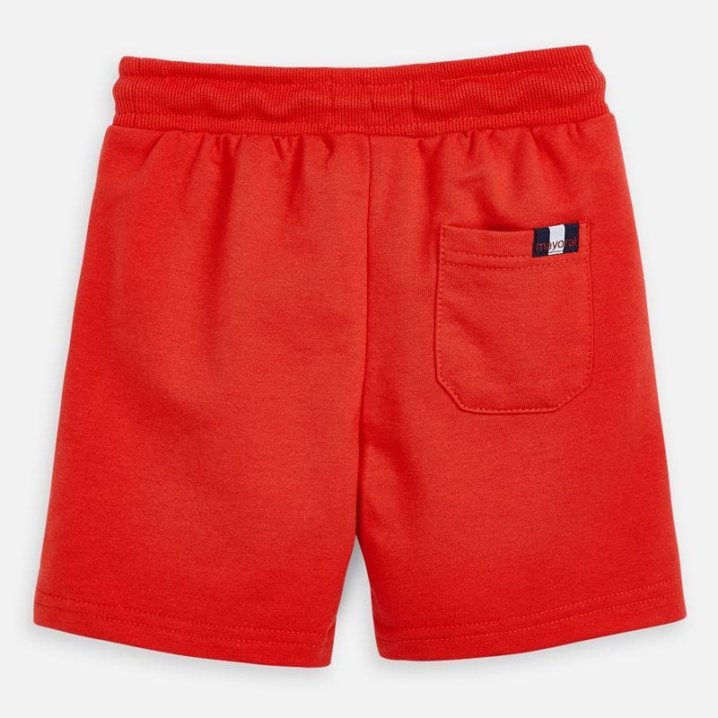 Mayoral Boy SS20 Fleece Shorts Red 611 (4368313450594)